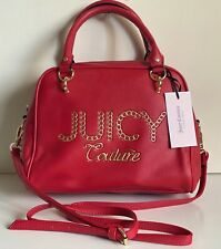 JUICY COUTURE LIME LIGHT CHILI RED CONVERTIBLE SATCHEL CROSSBODY SLING BAG $89