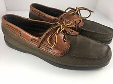 Men's G.H. Bass Brown Slip on Stitched Toe Boat Shoes 13 M