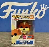 Funko POP! Pokemon Growlithe Flocked #597 2020 NYCC New York Comic Con NEW!