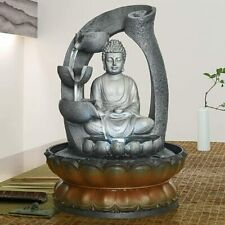 11 inch Buddha Tabletop Water Fountain ecoration Decorative Sculpture with LED