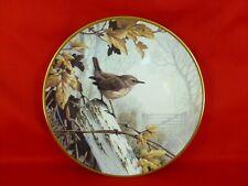 assiette porcelaine plate édition limitée birds signée T James Bond oiseaux 2
