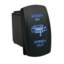 Rocker switch 653BM 12V WINCH IN WINCH OUT Laser Momentary LED blue 12V 20A