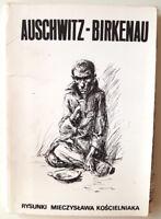 WW2 GERMAN HOLOCAUST CONCENTRATION CAMP AUSHCHWITZ BIRKENAU 10 ORIGINAL PAINTING