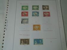 ADEN 1937-53 MAINLY USED STAMP COLLECTION ON ALBUM LEAVES