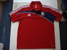 British & Irish Lions Vintage Adidas South Africa 2009 Red Polo Shirt, UK 44-46