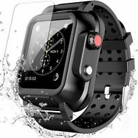 For Apple Watch Series 3 Waterproof Case 42mm 38mm & Soft Band Full Body Cover