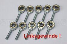10x M6 Uniballgelenk links Außengewinde Gelenkkopf Kugelgelenk Spurstangenkopf