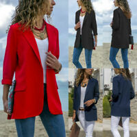 Women Elegant Slim Casual Business Blazer Suit Jacket Coat Outwear Vests