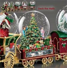 THOMAS KINKADE Deck The Halls Wonderland Express  Snow Globe TRAIN #2 NEW