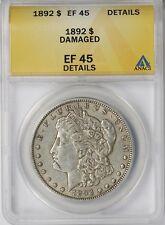 1892 $1 ANACS XF EF 45 Details (Damaged) Morgan Silver Dollar