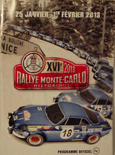 16th MONTE CARLO RALLYE HISTORIQUE programme officiel 2013 96 pages
