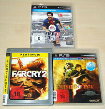 3 PLAYSTATION 3 PS3 SPIELE SAMMLUNG FIFA 13 FAR CRY 2 RESIDENT EVIL 5 GOLD
