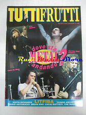 rivista TUTTIFRUTTI 124/1993 Litfiba Keith Richards Battisti Antonacci  No cd