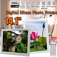 14.1'' HD Digital Photo Movies Frame LED Backlight Album Video Player Remote