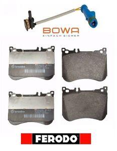 For Mercedes W222 Maybach S550 S550e C217 Front Brake Pad Set Ferodo Sensor Bowa