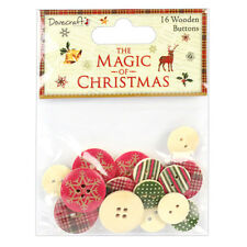 Dovecraft The Magic of Christmas Wooden Buttons for cards & craft