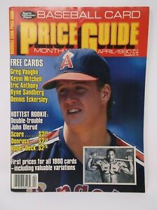 Baseball Card Price Guide Monthly April 1990