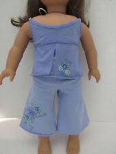 AMERICAN GIRL MIA'S PAJAMAS RETIRED BLUE TOP CAPRI PANTS 2008