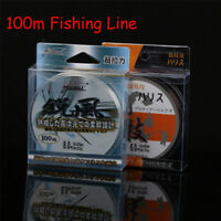 100m Strong Tensile Japanese Nylon Transparent Fluorocarbon Fishing Tackle Line