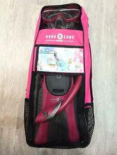 New listing Aqua Lung Sport Fins Snorkel Mask Pro Series Pink Bag Ml/L