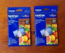 2x Brand New - Photo Sheets Premium Glossy Photo Paper 10x15cm Brother BP71GP20