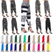 WOMENS HAREM TROUSERS ALI BABA LONG PANTS BAGGY HAREEM LEGGINGS PLUS SIZES 8-26
