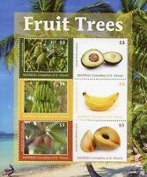 Mayreau Gren St Vincent Fruits Stamps 2018 MNH Fruit Trees Bananas 6v M/S II