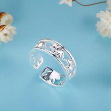 Adjustable Male Female 925 Silver Ring New - Elephants Ring Jewelry XMPJ268