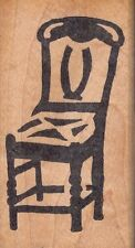"""dining chair hot potatoes Wood Mounted Rubber Stamp 3 1/2 x 2""""  Free Shipping"""