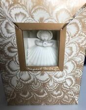 "Margaret Furlong Bisque Porcelain 1980 Trumpeter 4"" Angel Ornament- Nib New"