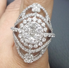 Deal! 3.00CT Genuine Round Cluster Diamond Ladies Cocktail Ring in 14K Gold