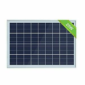 ECO-WORTHY 25W 12V POLYCRYSTALLINE SOLAR PANEL MODULE NEW OFF GRID BATTERY