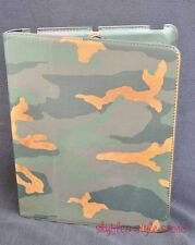 Fossil Estate Leather iPad Easel Case Stand Camo Tablet 2 3 4 Camouflage Army