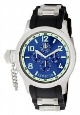 INVICTA RUSSIAN DIVER DAY/DATE BLUE DIAL POLYURETHANE STRAP MEN'S WATCH 1799 NEW