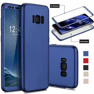 For Samsung Galaxy S9 S8 Plus S7 edge 360 Hybrid Shockproof Silicone Back Case