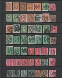 US,1800'S UNCHECKED,MIXED CONDITIONS COLLECTION,USED
