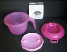Tupperware Microwave Rice Maker Quick Cooker Steamer 2.25 cup Container Pink New