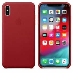 Official Apple Genuine Leather Rear Case Cover for iPhone XS Max - Red