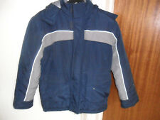 "DEMO OUTDOOR KIDS JACKET SIZE 38"" CHEST NAVY/GREY FUR LINED - BRAND NEW"