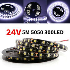 24V 5M White 5050 300SMD 300leds 100% Waterproof Flexible Strip Light Lamp IP65