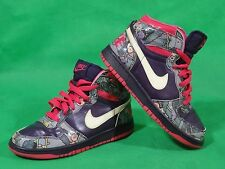 Nike WMNS High Dunk Women Shoes Foral Purple Pink Size 5.5 UK / 39 EU