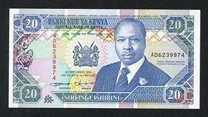 KENYA  20  SHILLINGS  1993   PICK # 31a  XF+.