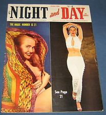 """Night And Day Oct 1956 Men's Magazine Large Tabloid Size 10"""" x 13"""""""