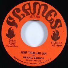"Dennis Brown ""Whip Them Jah Jah"" Reggae 45 Flames mp3"