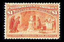 US #241; $1 COLUMBIAN ISSUE, F/VF-UNUSED, CV $500