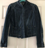 Nolita NYC Ladies Denim Jacket Blue Size 10 With Hook And Eye Fastening