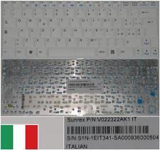 Clavier Qwerty Italien MSI U100 Mini1210 E1210 V022322AK2 S1N-1EIT361-SA0 Blanc