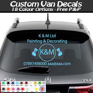 Custom Van Vehicle Graphics Sign, Vinyl Stickers Writing Kit Lettering Decal New