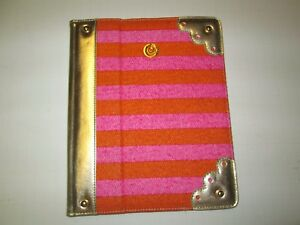 """Hot Pink/Orange Universal Tablet Cover by Mud Pie, 9""""-10"""", New"""