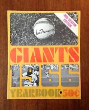 1966 SAN FRANCISCO GIANTS YEARBOOK MID YEAR EDITION NICE